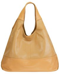 Mofe - Halcyon Perforated Leather Triangular Tote-style Shoulder Bag With Interior Zip Centre Divide - Lyst