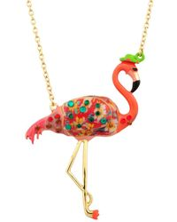 Les Nereides - Kind And Happy Francis The Flamingo Necklace - Lyst