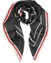Givenchy - Women's Black Silk Foulard - Lyst