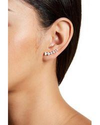 Adornia - Sterling Silver And Swarovski Crystal Arrow Ear Climber Set - Lyst