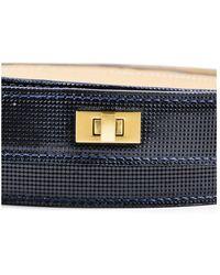 Lela Rose - Nwt Navy Blue Gold Tone Hardware Double Wrap Belt Sz S - Lyst
