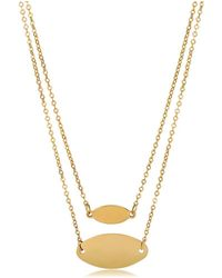 Jewelry Affairs - 14k Yellow Gold Graduated Oval Disc Layered Necklace, 18 - Lyst