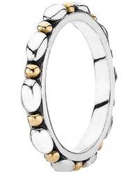PANDORA - Opposites Attract 14k & Silver Ring - Lyst