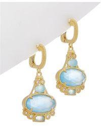 Judith Ripka - Aspen 14k Over Silver 7.79 Ct. Tw. Gemstone Drop Earrings - Lyst