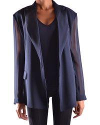 Céline - Céline Women's Blue Silk Blazer - Lyst