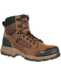 "Georgia Boot - Men's Gb00108 Bc 6"" Comp Toe Waterproof Work Boot - Lyst"