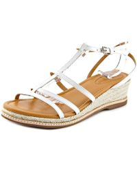 Corso Como - Codi Women Open Toe Leather White Wedge Sandal - Lyst