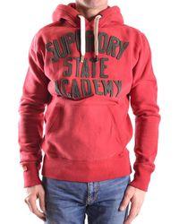 Superdry - Men's Red Cotton Sweatshirt - Lyst