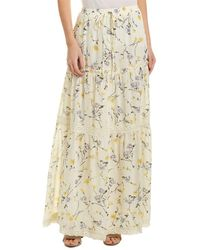 Re:named - Re:named Floral Maxi Skirt - Lyst