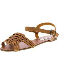 Steve Madden - Rowma Leather Sandal - 8m - Lyst