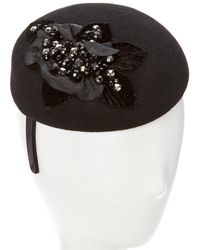 Giovannio - Couture Black Wool Pillbox On Headband - Lyst