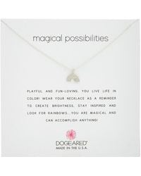 Dogeared - Reminder Collection Magical Possibilities Silver Necklace - Lyst