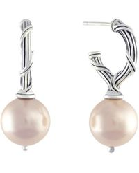 Peter Thomas Roth Fine Jewelry - Peter Thomas Roth Bead Earrings In Sterling Silver With Simulated Pink Pearls - Lyst