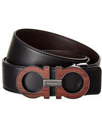 Ferragamo - Reversible & Adjustable Gancini Leather Belt - Lyst
