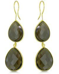 Catherine Malandrino - Smokey Quartz Tiered Earrings In Sterling Silver - Lyst