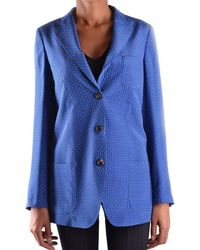 Alberto Biani - Women's Blue Silk Blazer - Lyst