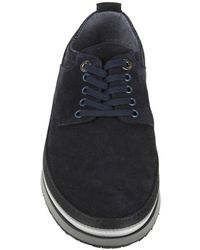 Cesare Paciotti - Men's Blue Leather Sneakers - Lyst