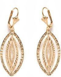 Peermont - Gold Leaf Dangling Earrings - Lyst