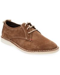 Russell Park - Suede Stitched Derby Shoe - Lyst
