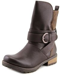Roxy - Bancroft Round Toe Synthetic Mid Calf Boot - Lyst