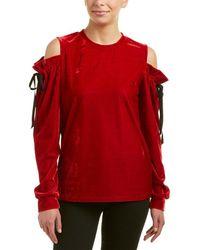 Drew - Samantha Dru Cold-shoulder Tie Top - Lyst