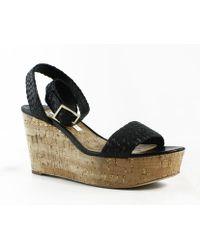 Diane von Furstenberg - Womens Black Ankle Strap Heels - Lyst