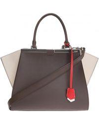 Fendi - Women's Brown Leather Handbag - Lyst
