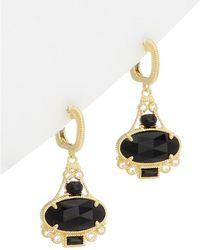 Judith Ripka - 14k Over Silver Onyx & Topaz Earrings - Lyst