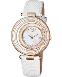 Gv2 - Vittoria Iprg Case With White Leather Strap - Lyst