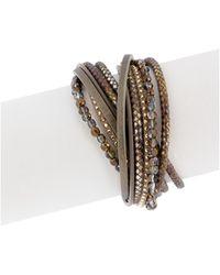 Saachi - Meknes Coffee Gold Bracelet - Lyst