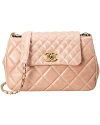 Chanel - Beige Quilted Glazed Calfskin Leather Daily Walk Boy Lock Bag -  Lyst 196a812033