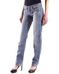 Dekker - Women's Blue Cotton Jeans - Lyst