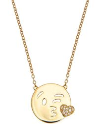 Sugar NY - Sterling Wink Necklace - Lyst