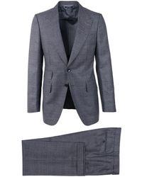 Tom Ford - Gray Windowpane Shelton 2pc Suit - Lyst