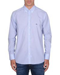 Etro | Men's 163653083250 Light Blue Cotton Shirt | Lyst