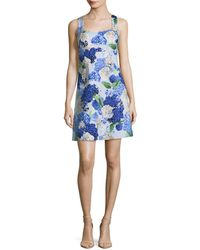 Cece by Cynthia Steffe - Cece Hydrangea Bouquet Print A-line Dress - Lyst