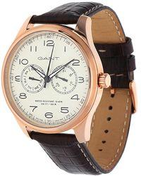 GANT - Watch Montauk Day-date Dark Brown W71603 - Lyst