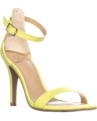Material Girl - Mg35 Blaire5 Ankle Strap Heels, Citron - Lyst
