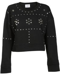 Dondup - Stud Embellished Sweatshirt - Lyst