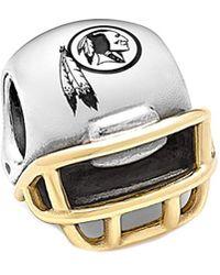 PANDORA - Nfl 14k & Silver Washington Redskins Helmet Charm - Lyst