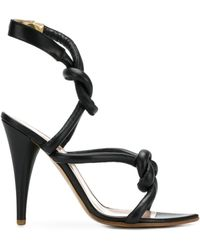Vivienne Westwood - Women's 7403001140306n401 Black Leather Sandals - Lyst