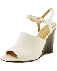 CALVIN KLEIN 205W39NYC - Pirra Open Toe Leather Wedge Sandal - Lyst