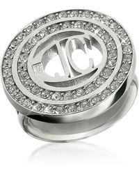 Just Cavalli - Women's Silver Metal Ring - Lyst