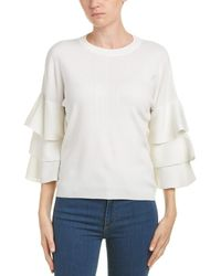Duffy - Ruffle Sleeve Pullover - Lyst
