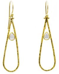 Gurhan - Delicate Dew Open Tear Drop Diamond Drop Earrings - Lyst