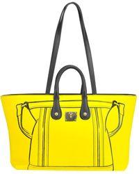 V73 - Women's Yellow Polyamide Tote - Lyst