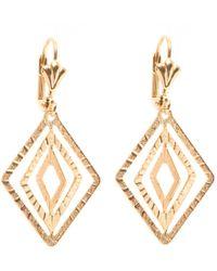 Peermont - Gold Diamond-drop Earrings - Lyst