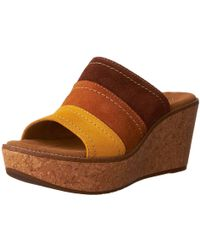Clarks - Women's Aisley Lily Wedge Sandal - Lyst