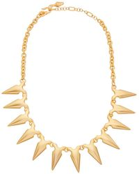 Kenneth Jay Lane - 22k Plated Spike Necklace - Lyst
