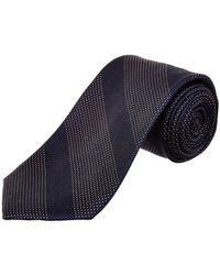 Cole Haan - Navy Kinsman Stripe Silk Tie - Lyst